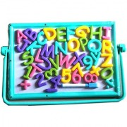 Kids Educational Alphabet Magnetic Number Board with Marker Chalk and Duster