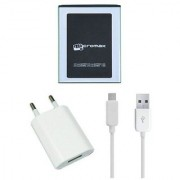 Li Ion Polymer Replacement Battery with Hi Speed USB Travel Charger for Micromax Canvas Power A96