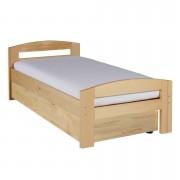 Pat dormitor Serena, cu lada de depozitare, 100×200 cm, culoarea lemnului