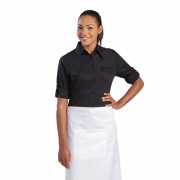 Chef Works Womens Pilot Shirt Black S Size: S