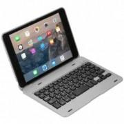 Husa carcasa cu tastatura bluetooth pentru Ipad Mini 4 Argintiu