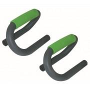 Schildkröt Fitness opdruksteunen Push up bar 2 stuks grijs