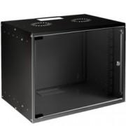 Комуникационен шкаф MIRSAN SOHO, 535 x 400 x 572 мм, D=400 мм / 12U, черен, за стена