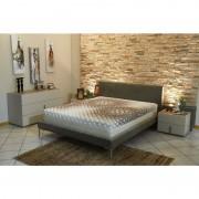 LITERIE JULIEN Matelas - Face ete + ame Mousse poli Lattex Haute resilience Face Hiver