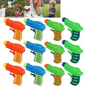 Water Squirt Gun Pistol 12pcs Plastic Water Gun Watering Game Toy Multi-Color for Kids