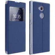 Avizar Funda Libro con Ventana Azul Oscuro para Sony Xperia XA2 Ultra