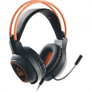Canyon Gaming headset with 7.1 USB connector, adjustable volume control, orange LED backlight, cable length 2m, Black, 182*90*23