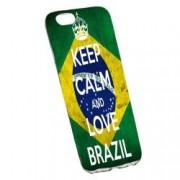 Husa de protectie Football Brazil Apple iPhone 6 Plus / 6S Plus rez. la uzura Silicon 232