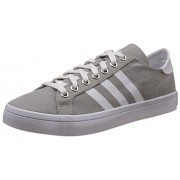 adidas Originals Men's Courtvantage Grey, White and Silver Sneakers - 12 UK