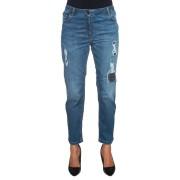 Pennyblack Jeans 5 tasche con rotture Denim medio Cotone Donna