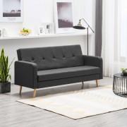 vidaXL Canapea din material textil gri închis