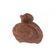 mark. Beanie Hat: Brown Solid Accessories