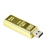 Qianlianjie 32GB Gold Bar Modelo USB 2.0 Flash Drive de Memoria Stick U Disco USB Flash Drive pendrive USB Drive Disco USB Flash Memory Stick Thumb Drive