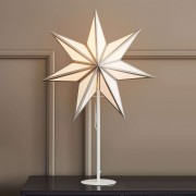 Adele standing star, white and silver