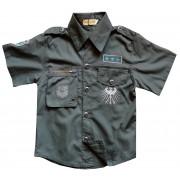 Koszula dziecięca militarna letnia szaro-oliwkowa