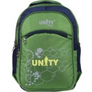 UNITY BAGS Polyester Multi Pocket School Bag |Casual Bag | Shoulder Backpacks for Girls & Boys 35 L Backpack(Green)