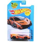 Hot Wheels Lamborghini Veneno New For 2014 Orange Color Car Rare Item Hw City 37/250