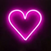 QAZQA Rosa vägglampa med fjärrkontroll inkl LED - Neonhjärta