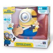 Minions - Figurina interactiva Stuart, 20 cm