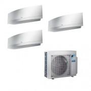 Daikin Condizionatore Trial Split Inverter Emura White 7+7+9 7000+7000+9000 Btu A+++ Wifi R32 3mxm40m