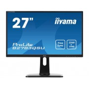 LED-monitor 68.6 cm (27 inch) Iiyama B2783QSU-B1 Energielabel B 2560 x 1440 pix WQHD 1 ms USB 3.0, DVI, HDMI, DisplayPort TN LED
