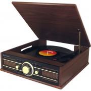 Soundmaster PL550BR Platenspeler met radio, USB, en encoding functie