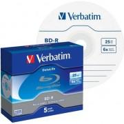 Medii de stocare verbatim 1x5 BD-R Blu-Ray 25GB 6x Speed Datalife No-ID Jewel (43836)