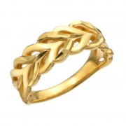 24K ダイヤカット デザイン リング 「リネアベスク」【QVC】40代・50代レディースファッション