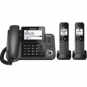 Telefono Inalambrico Panasonic Kx-tg592sk 3 Auriculares