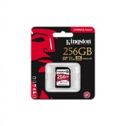 SD Card, 256GB, KINGSTON Canvas React, 100R/80W U3 UHS-I V30 A1 Card (SDR/256GB)