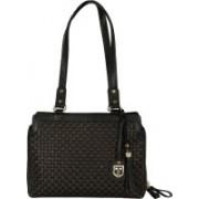 Tan Luzo Dry Milled Leather Handcrafted Black Shoulder Bag for Women Shoulder Bag(Black, 1 L)
