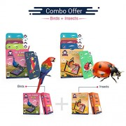 Birds + Insects | Age 3 - 10 | AR/VR Powered Flashcards for Preschoolers | Better Than Regular 3D & 4D Cards | Free iOS and Android App | Gift Pack of 2