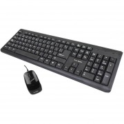 Teclado y Mouse TRUE BASIX Kit USB Negro TB-01006