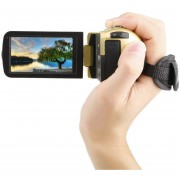EB Visión Nocturna FHD 1920 X 1080 3.0 Pulgadas 18X 24MP Videocámara Digital De Cámara De Video-Dorado
