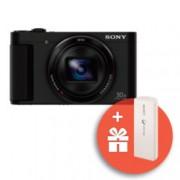 """Фотоапарат Sony Cyber Shot DSC-HX90V (черен) с подарък външна батерия Sony CP-V3(бяла), 30x оптично увеличение, 18.2 Mpix, 3.0""""(7.62cm) LCD дисплей, Wi-Fi/NFC, GPS, microHDMI, USB, SDXC слот"""