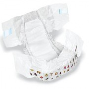 SHI Super Soft Non Woven Premium Baby Diaper Pack of 50 Pcs - New Born