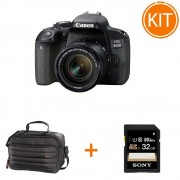 Kit Canon EOS 800D cu Obiectiv EF-S 18-55mm + Geanta Hama + Card Sony SDHC 32GB