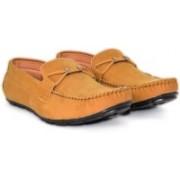 Alberto Calza Valvet Tie Loafers For Men(Tan)