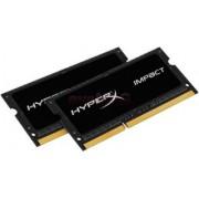 Memorii Laptop Kingston HyperX Impact Black SO-DIMM DDR3L, 2x4GB, 2133MHz, 1.35V, (CL11)
