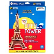 Genius Box - Play Some Learning Eiffel Tower 3D Wooden Puzzle Educational Activity Kit / Educational Toy / Educational Kit / STEM