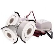 LED Set van 3 Inbouwspots - 3W - Wit