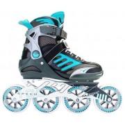 Nijdam 52RZ inline skates / skeelers - Zwart - Size: 45