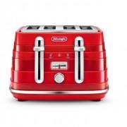 DeLonghi CTA4003.R 4 Slice Avvolta Toaster - Red