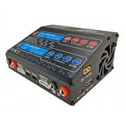 Up100 Ac Duo Dual 2 Port (Ch1 10 Amps, Ch2 6 Amps, 100 Watts Total): Li Po, Li Ion, Li Fe, Ni Cd, Ni Mh, Pb Ac/Dc Balancing Battery Multi Chemistry Multicharger W/ 120 Watt Power Supply, Usb Charge Port (5 V 2.1 A) For Cell Phones/Tablets/Etc