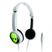 Novelty Travel Portable On-Ear Foldable Headphones Space and Aliens - Alien Head Roswell