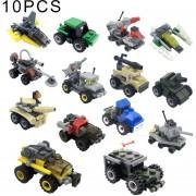 10 Pcs Kazi Niños DIY Bloques De Edificio Educativo Intelligence Toy Iluminación Montado, Color Al Azar Y Estilo Entrega