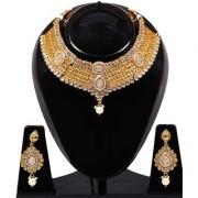 Jewels Gold Alloy Amazing Golden Plated Traditional Designer JG-NC8989 Necklace Maangtikka Set