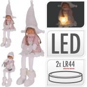 Svetlo LED postavička dievča/chlapec 46CM biela mix dekorácia xxx
