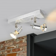 Asto Ceiling Spotlight Two Bulbs Decorative Ring
