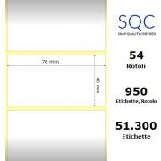 Etichette SQC - Carta normale (vellum) (bobina), formato 76 x 40